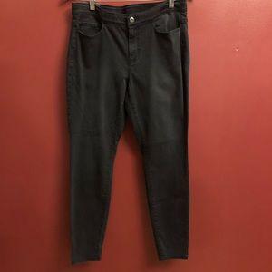 NWT J. Jill Black Wash Denim 5 Pocket Legging